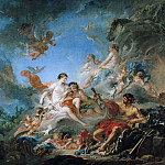 Francois Boucher - The Forge of Vulcan (Vulcan presenting arms for Aeneas to Venus)