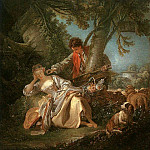 Francois Boucher - THE INTERRUPTED SLEEP