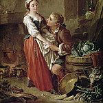 Francois Boucher - The Beautiful Kitchen Maid