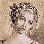 Francois Boucher - Head of a Young Girl2