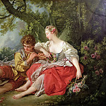 Shepherd Piping to a Shepherdess, Francois Boucher