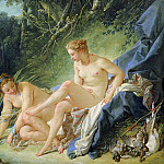 Diana getting out of her bath, Francois Boucher