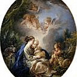 Francois Boucher - Virgin and Child with the Young Saint John the Baptist and Angels