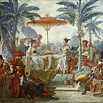 Cartoons for tapestries – Feast of the Emperor of China, Francois Boucher