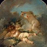 Francois Boucher - Loves Sleep (Studio of Francois Boucher)