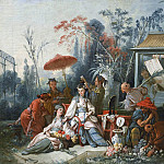 Cartoons for tapestries – The Chinese Garden, Francois Boucher