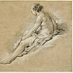 Francois Boucher - A Seated Nude Girl