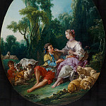 Francois Boucher - Are They Thinking about the Grape ?