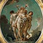 Francois Boucher - The Three Graces carrying Amor