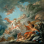 Francois Boucher - Vulcan Presenting Arms to Venus for Aeneas