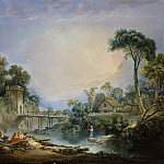 Francois Boucher - The Rustic Bridge