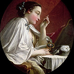 Woman at her toilet, Francois Boucher