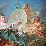 Allegory of Painting, Francois Boucher