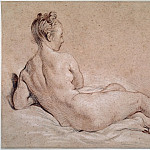 Reclining female nude seen from the back, Francois Boucher