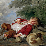 Francois Boucher - Sleeping Shepherd