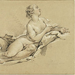 Reclining Nymph near an Urn, Francois Boucher