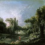 Francois Boucher - Landscape with pond