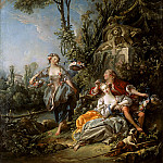Francois Boucher - Lovers in a Park