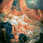 Francois Boucher - Mars and Venus surprised by Vulcan