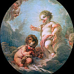 The boy Jesus blessing John the Baptist, Francois Boucher