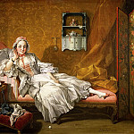 Francois Boucher - A Lady on Her Day Bed