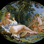 Francois Boucher - Bacchante Playing a Reed Pipe