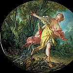 Rhea Sylvia fleeing from the Wolf, Francois Boucher