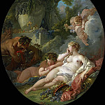 Francois Boucher - SLEEPING BACCHANTES SURPRISED BY SATYRS