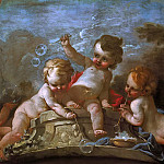 Francois Boucher - Putti blowing bubbles