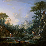 Landscape with a Water Mill, Francois Boucher