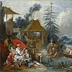 Francois Boucher - Cartoons for tapestries - Chinese Fishing