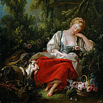 Francois Boucher - Sleeping shepherdess
