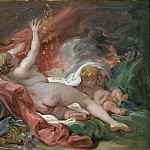 Danaë and the Shower of Gold. Study, Francois Boucher