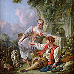 Francois Boucher - The Education of a Dog