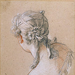 Francois Boucher - Head of a Girl from Behind