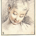 Francois Boucher - Head of a Girl
