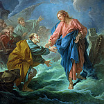 Francois Boucher - Saint Peter Invited to Walk on the Water