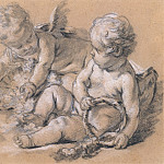 Francois Boucher - Putti with Flowers