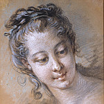 Francois Boucher - Head of a young girl