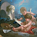 Francois Boucher - Cupids - Allegory of Painting