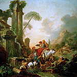 Francois Boucher - Rest by the fountain