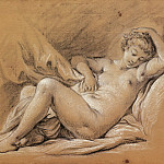 Nude Woman on a Bed, Francois Boucher
