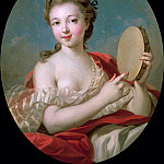 Francois Boucher - Young woman with tambourine
