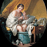 Francois Boucher - Young woman taking a footbath