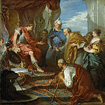 Francois Boucher - Joseph Presenting His Father and Brothers to the Pharaoh