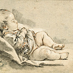A Sleeping Baby, Francois Boucher