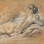 Francois Boucher - Reclining nude woman seen from behind