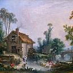 Landscape with a Watermill, Francois Boucher