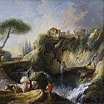Francois Boucher - View of Tivoli with the Temple of Vesta