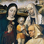 Giovanni Francesco Maineri - Madonna and Child, St Catherine and the Blessed Stefano Maconi
